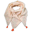 Foulard pompon arc en ciel - PPMC