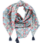 Foulard pompon azulejos - PPMC