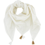 Foulard pompon  blanc pailleté - PPMC