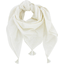 Pom pom scarf white sequined - PPMC