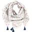 Foulard pompon bord de mer - PPMC