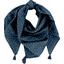 Pom pom scarf bulle bronze marine - PPMC