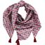 Pom pom scarf poppy