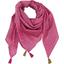 Foulard pompon etoile or fuchsia - PPMC