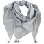 Pom pom scarf etoile or gris - PPMC