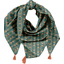 Foulard pompon eventail or vert - PPMC