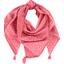 Foulard pompon feuillage or rose - PPMC