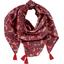 Pom pom scarf vermilion foliage - PPMC