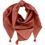 Foulard pompon gaze lurex terracotta - PPMC