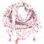 Foulard pompon herbier rose - PPMC
