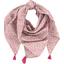 Foulard pompon jasmin rose - PPMC