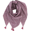 Foulard pompon lichen prune rose - PPMC
