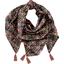 Pom pom scarf ochre bird - PPMC