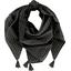 Foulard pompon  paille dorée noir - PPMC
