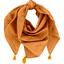 Foulard pompon paille dorée caramel - PPMC