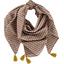Pom pom scarf palmette - PPMC