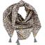 Pom pom scarf ochre flower - PPMC