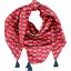 Pom pom scarf paprika petal - PPMC