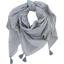 Foulard pompon  pois argent gris - PPMC