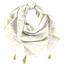 Foulard pompon ramage or - PPMC