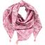 Foulard pompon violette rose - PPMC