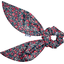 Short tail scrunchie camelias rubis - PPMC