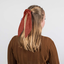 Short tail scrunchie lurex terracotta gauze