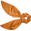 Short tail scrunchie caramel golden straw - PPMC