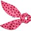 Short tail scrunchie ladybird gingham - PPMC