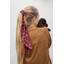 Long tail scrunchie vermilion foliage