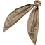 Long tail scrunchie gold linen - PPMC