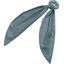 Foulchie gaze pois or bleu gris - PPMC