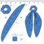 Long tail scrunchie paquerette marine