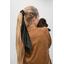 Long tail scrunchie glitter black