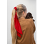 Long tail scrunchie tangerine red