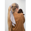 Long tail scrunchie gray copper triangle