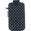 Big phone case navy blue spots