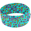 Stretch jersey headband  fleur turquoise h5 - PPMC