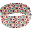 Stretch jersey headband  fleur rouge ciel beige g8 - PPMC