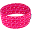 Stretch jersey headband  ronds fuchsia rouge d8 - PPMC