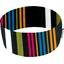 Turbantes elasticos j rayé noir fuchsia jaune - PPMC