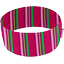 Bandeaux jersey rayé fuchsia vert  - PPMC