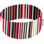 Turbantes elasticos rayé noir blanc brique d1 - PPMC
