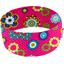 Stretch jersey headband  fleur pois fuchsia f4
