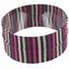 Bandeaux jersey rayé noir gris prune i0 - PPMC