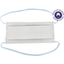 Masque Tissu Enfant ligne verticale blanc gris  - PPMC