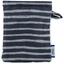 Make-up Remover Glove striped silver dark blue - PPMC