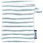 Make-up Remover Glove striped blue gray glitter - PPMC