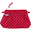 Mini Pleated clutch bag red spots