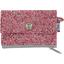 Mini pochette porte-monnaie lichen prune rose - PPMC
